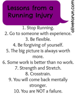 Lessons from an injury