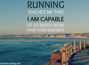 running teaches me