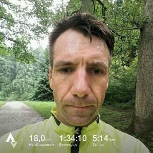 18 km duurloop Zonienwoud