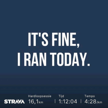 I ran today